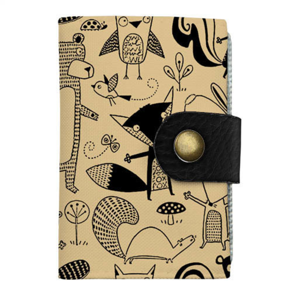 "Cardholder with push button ""Animals"""