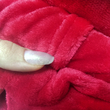 Blanket with sleeves made from microfiber, red