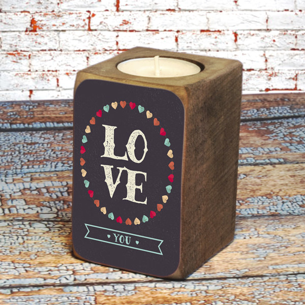 "Candleholder ""Love you"""