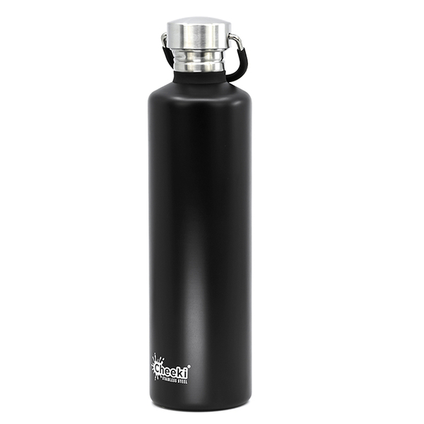 "Water bottle Cheeki ""Single Wall"", black"