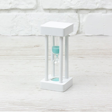 "Hourglass ""White-Turquoise"" for 1 minute"