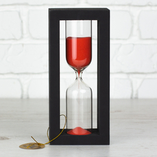 "Hourglass ""Black-Red"" for 30 minutes"