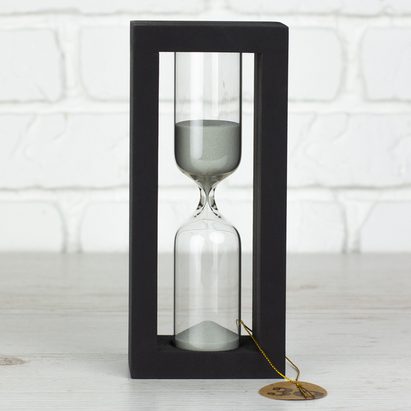 """Hourglass """"Black-Silver"""" for 30 minutes"""