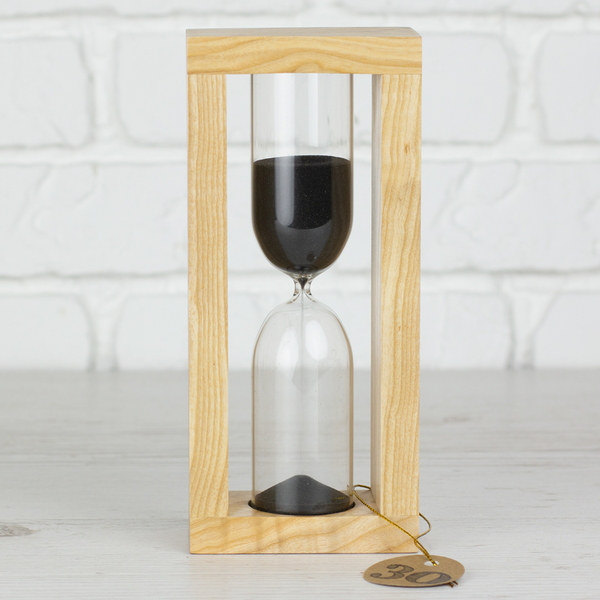 """Hourglass """"Nature-Black"""" for 30 minutes"""