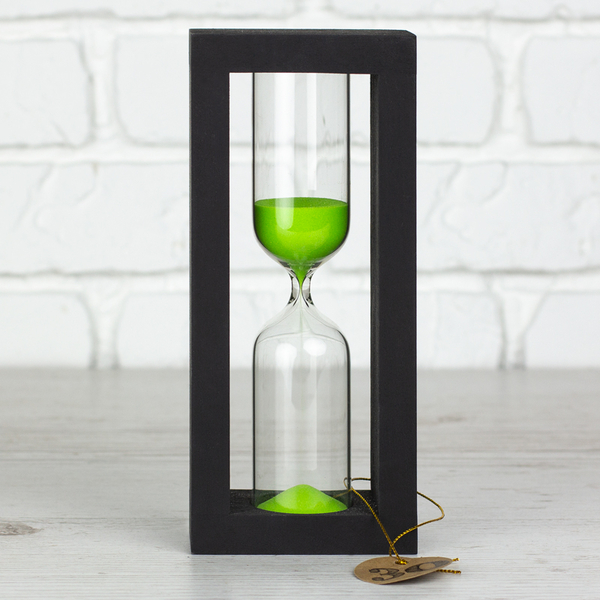 """Hourglass """"Black-Green"""" for 30 minutes"""