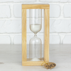 """Hourglass """"Nature-White"""" for 30 minutes"""