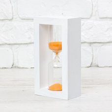 "Hourglass ""White-Orange"" for 5 minutes"