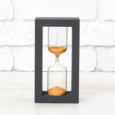 "Hourglass ""Black-Orange"" for 5 minutes"