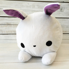 "Roller pillow ""White bunny"""
