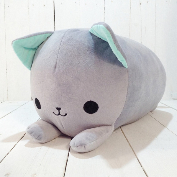 "Roller pillow ""Gray kitten"""