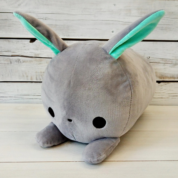 "Roller pillow ""Gray bunny"""