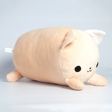 "Roller pillow ""Peach Kitten"""