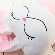 "Handmade toy ""Hare in love"", white-pink"