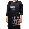 "Apron ""Cookosaur"", black"