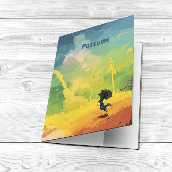 """Passport cover """"Painted sky"""""""