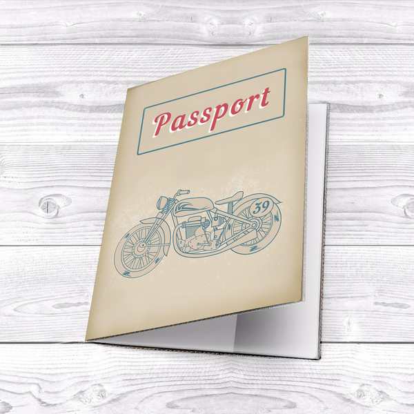 "Passport cover ""Motorcycle"""