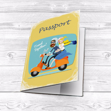 """Passport cover """"Travel together"""""""