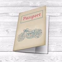 """Passport cover """"Motorcycle"""""""