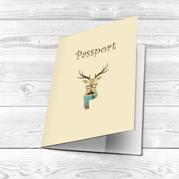 "Passport cover ""Hipster animals"""