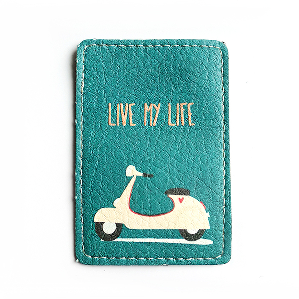 "ID card cover ""Live my life"""
