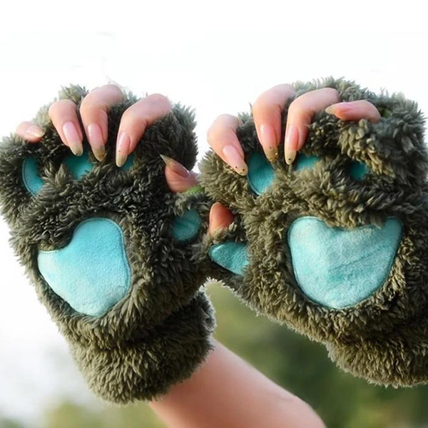 """Mittens """"Paws"""", green"""
