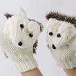 "Mittens ""Hedgehogs"", white"