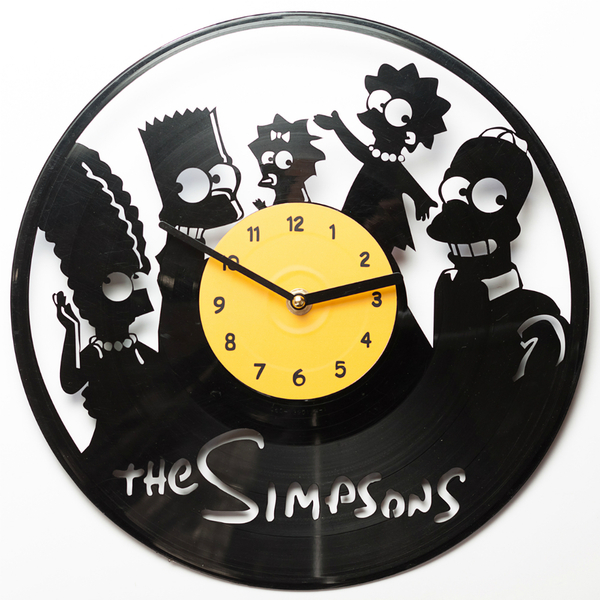 "Vinyl clock ""The Simpsons"""