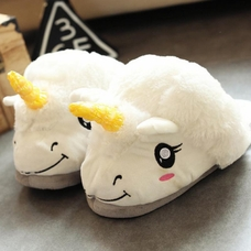 "Slippers ""Unicorns"", white"