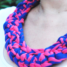 """Necklace from knitted yarn """"Blackberry"""""""