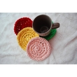Knitted hot coasters for cups