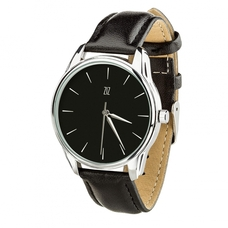"Wristwatch  ""White on Black"" (+ white strap)"