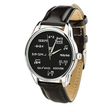 "Wristwatch ""Mathematics"" (+ white strap)"