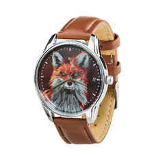 "Wristwatch ""Fox!"" (+ black strap)"