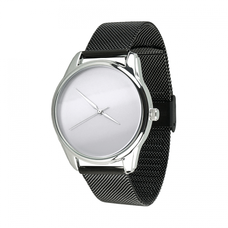 "Steel wristwatch ""Minimalism"" (+ white strap)"
