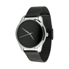 "Steel wristwatch ""Minimalism"" (+ eco-leather strap)"