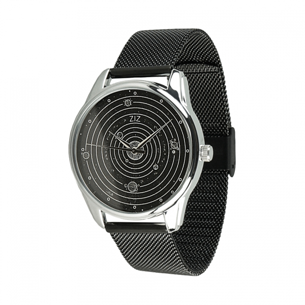 """Steel wristwatch """" Planets"""" (+ eco-leather strap)"""