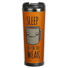 "Thermal mug ""Sleep for weaklings"""