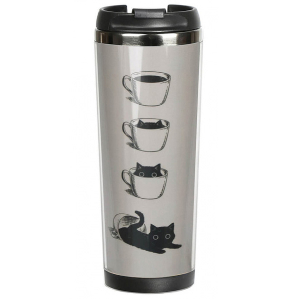 "Thermal mug ""Cat in a Cup"""