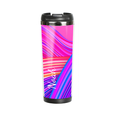 "Thermal mug with your text ""Mix of colors"""