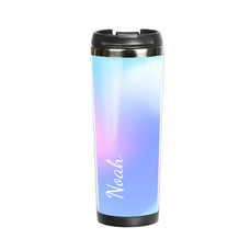 "Thermal mug with your text ""Blue"""