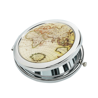 "Pocket mirror ""Map"""