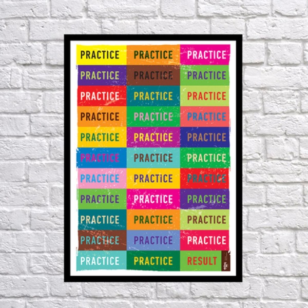 """Poster """"Practice Only"""""""