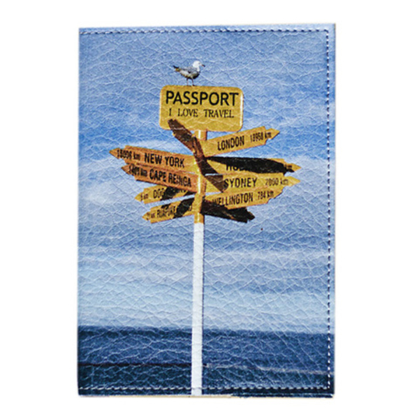 "Passport cover ""Where to fly?"""