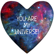 "Heart-pillow XXL ""You are my Universe"""