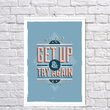 "Poster ""Get Up and Try Again"""