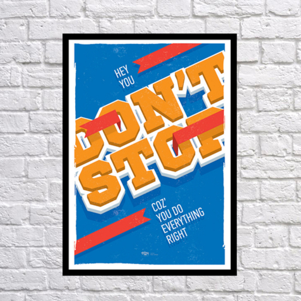 """Poster """"Don't stop"""""""