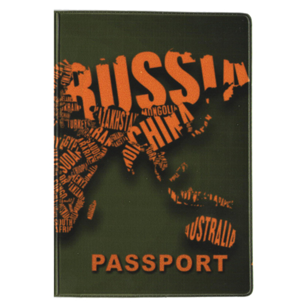 """Passport cover """"Red and black"""""""