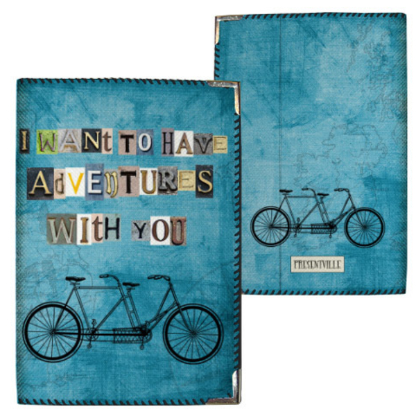 """Passport cover """"Adventures with you"""""""